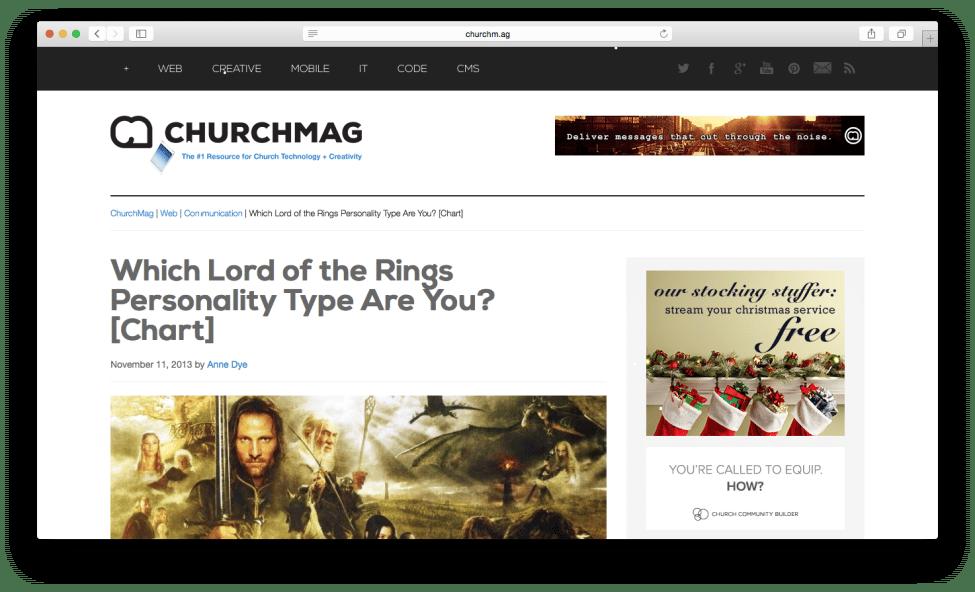 ChurchMag Church Tech Blog